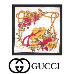 Gucci • Silk Floral Equestrian Scarf Square